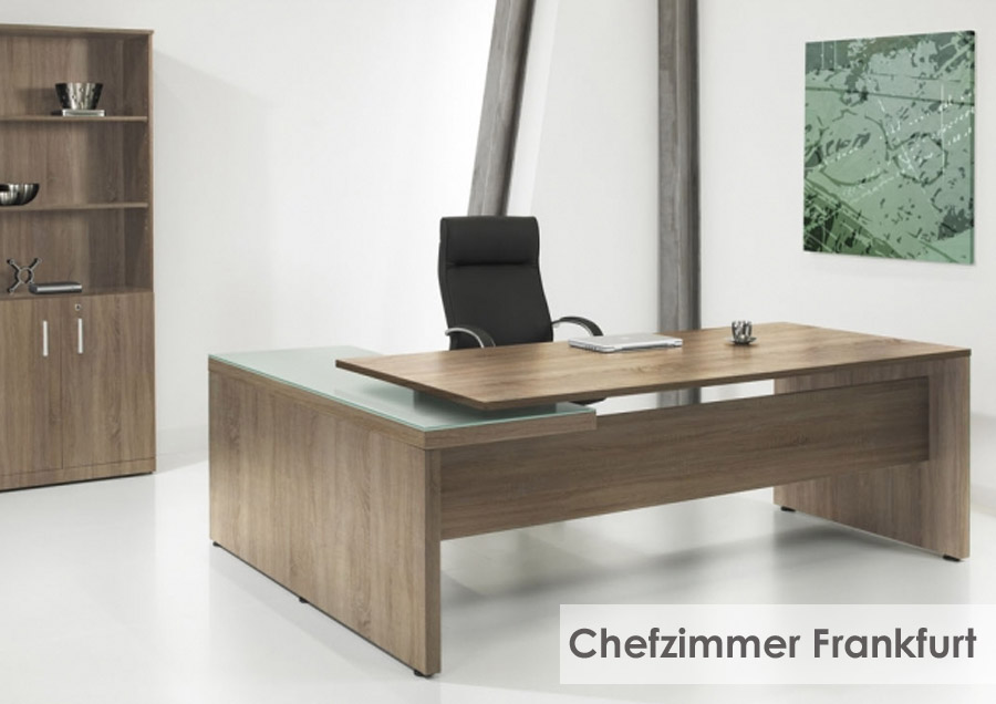 Ob die elegante Büromöbel Lösung in helem Eiche Dekor oder ...