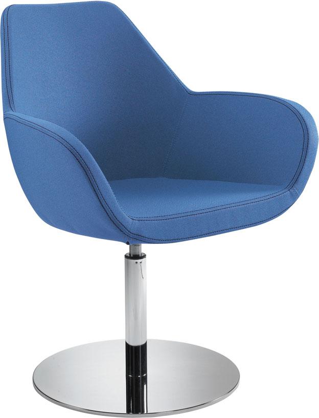 EOS Büromöbel - gdbdesign - Sessel Bielefeld mit Säulenfußgestell