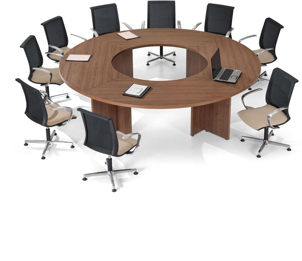 konferenztisch rund 270x270 cm bis 12 personen eos b rom bel. Black Bedroom Furniture Sets. Home Design Ideas
