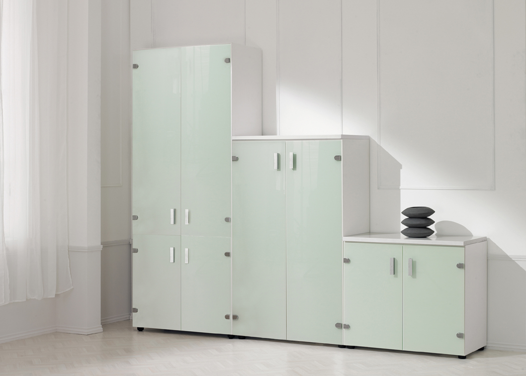 EOS Büromöbel - gdbdesign - Schrank mit Glastüren - Ein Fachboden ...