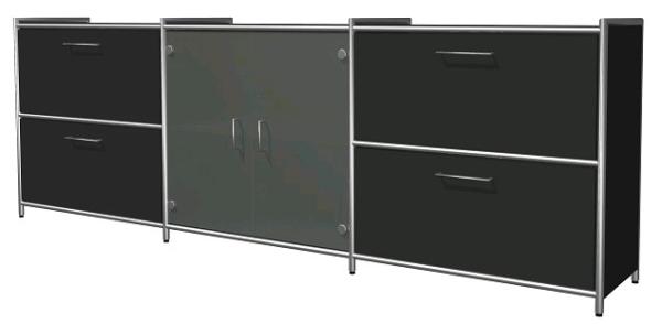 design sideboard mit glas eos b rom bel. Black Bedroom Furniture Sets. Home Design Ideas
