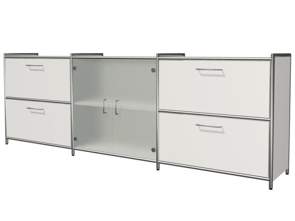 B rom belschr nke design klassisch zeitlos kultig for Sideboard mit glas