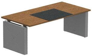 Rechteckiger schreibtisch 200x100 cm plattenst rke 31 4 cm for Schreibtisch 200x100