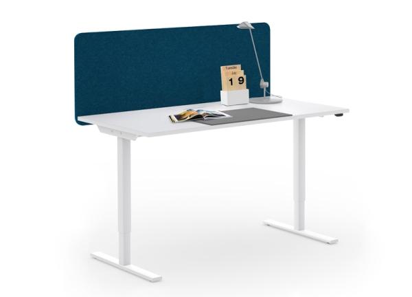 Schreibtischaufsatz akustik 80 cm eos b rom bel for Schreibtisch trennwand